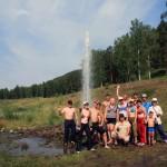 У фонтана на реке Ай