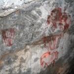 Капова пещера. Копии наскальных рисунков
