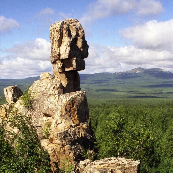 Каменная  Амина глядит на Таганай