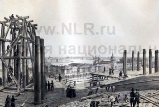 Строительство Исакиевского собора