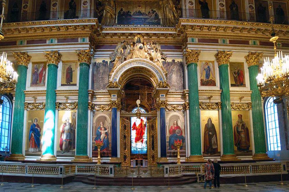 Малахитовые колонны. Исаакиевский собор