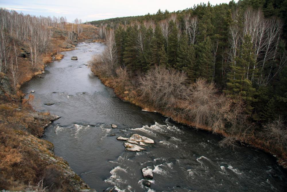 река Миасс в районе Баландино