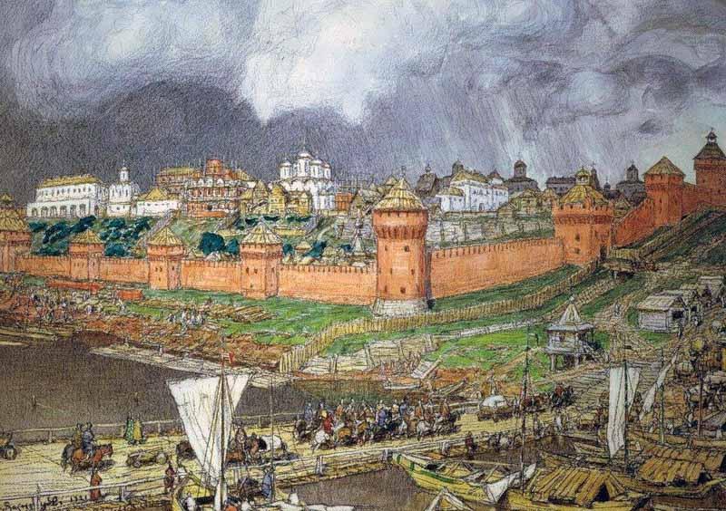 Васнецов Московский кремль при Иване III