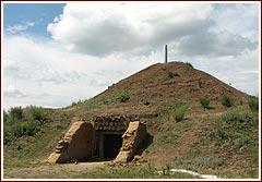 сарматский курган Темир (реконструкция)