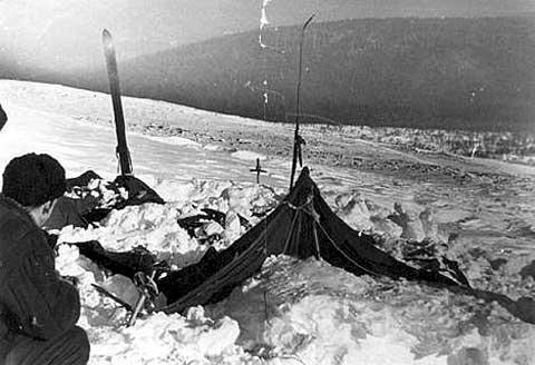 Перевал Дятлова. Такой нашли палатку