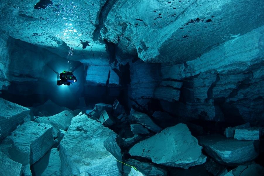 Ординская пещера. Обвальный зал