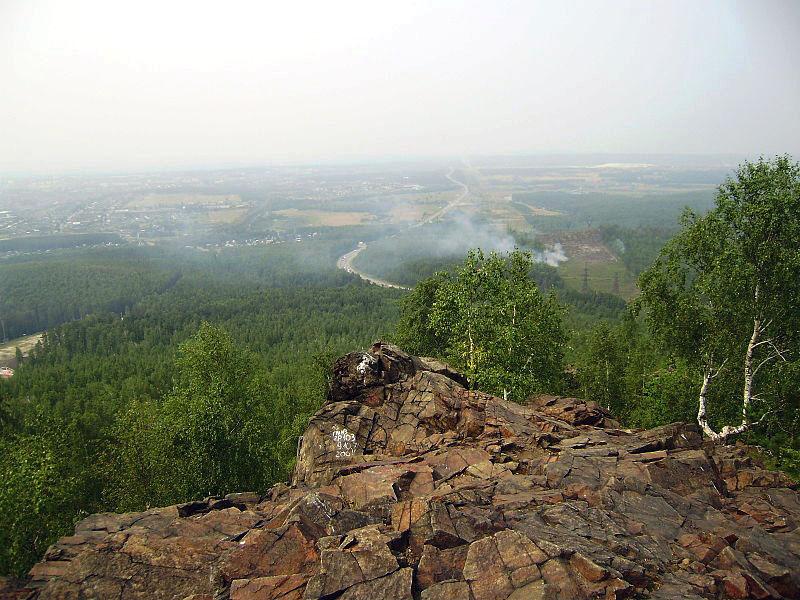 Вид с вершины горы Волчиха