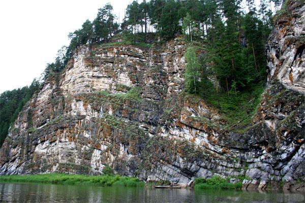 Скала Дужной Камень - эталон Пермского периода