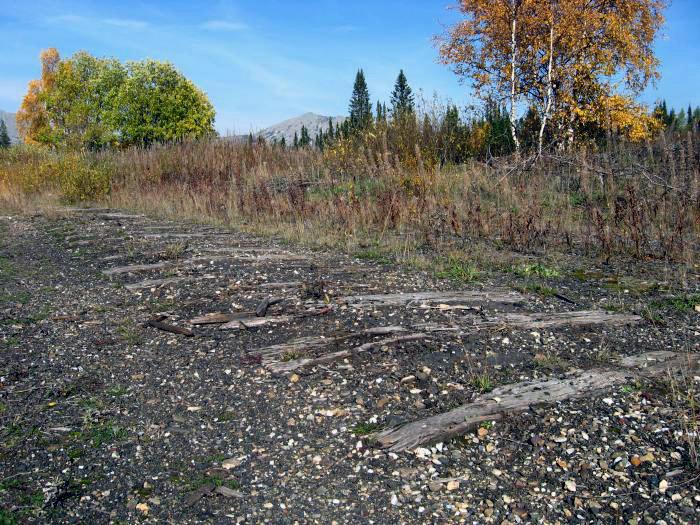 Бывшая железная дорога на хребте Машак
