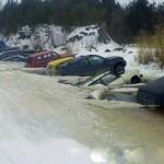 Челябинские моржи настолько суровы что даже не выходят из своих машин