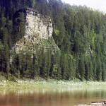 Камень Кирпичный. Река Чусовая