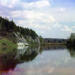 Камень Лебяжий. Река Чусовая