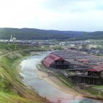 Общий вид Саткинского завода с Бакальской ветки
