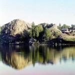 Скала около деревни Токоревки. Пермская губерния