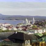 Вид на город Златоуст с запада. Прокудин-Горский, начало ХХ века