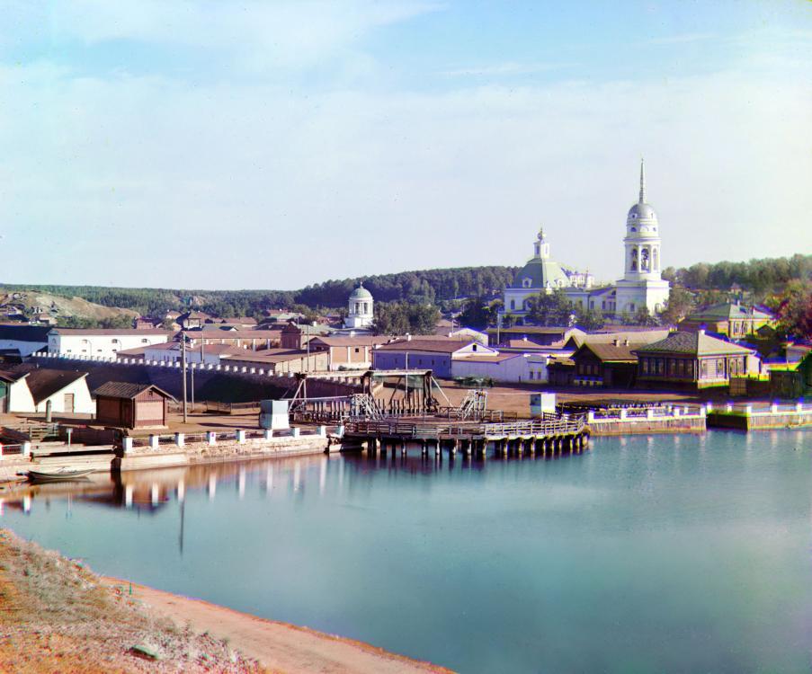 Вид на Каменский завод и плотину