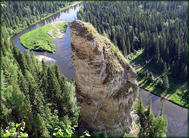 Чортов уамень на реке Усьва