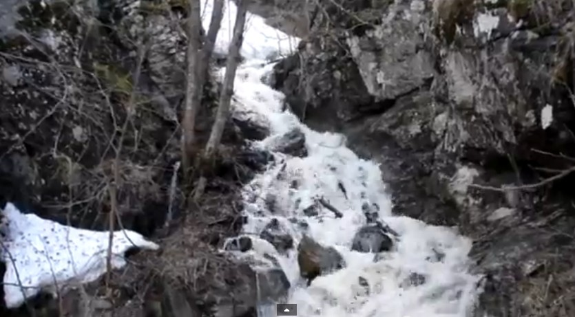 Водопад Безимянный на реке Белая
