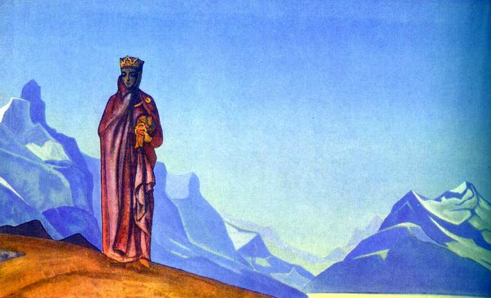 Н.К.Рерих. Держательница Мира (Камень несущая)