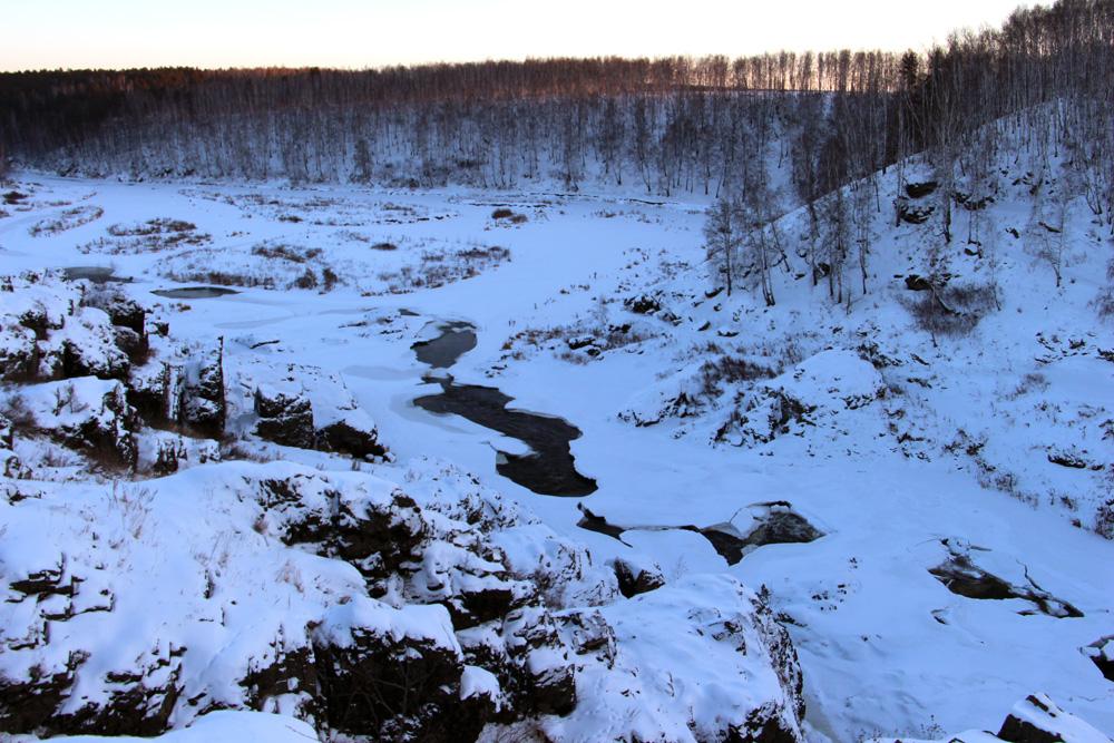 Порог Ревун зимой