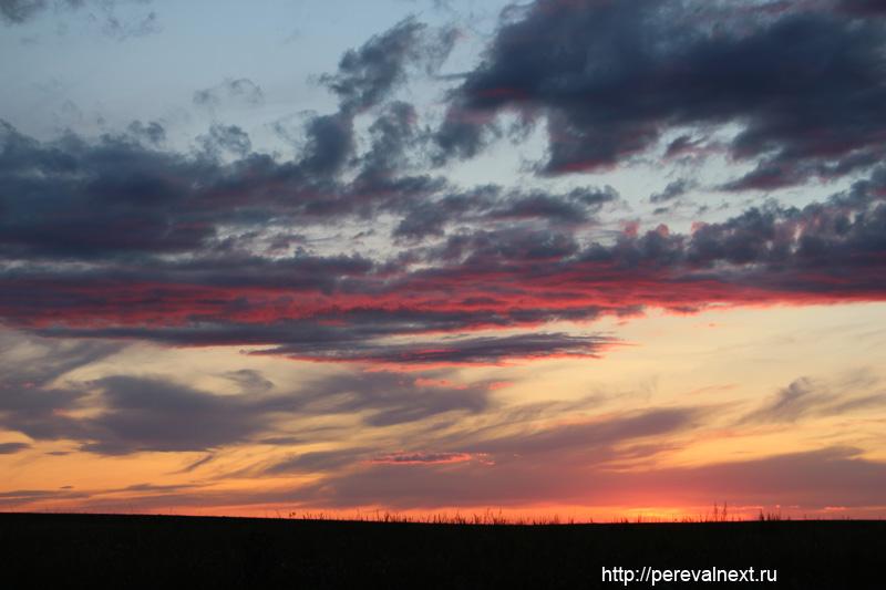 Закат а Аркаимских степях