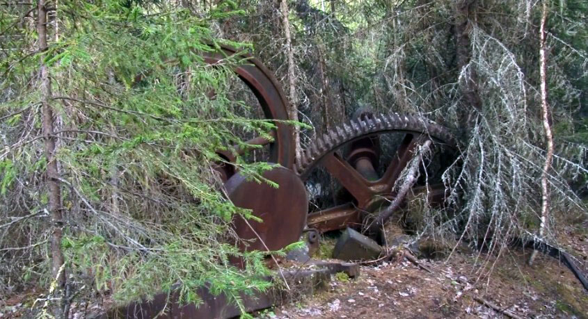Загадочное сооружение в тайге