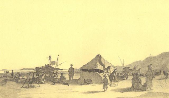 Остров Барсакельмес, рисунок Тараса Шевченко, 1848 г.
