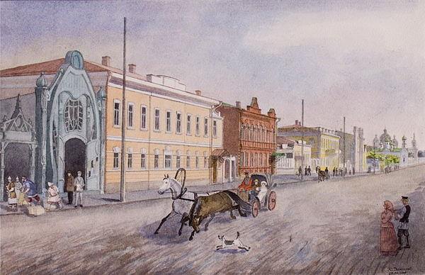 Улица Уфимская. Вид на север.