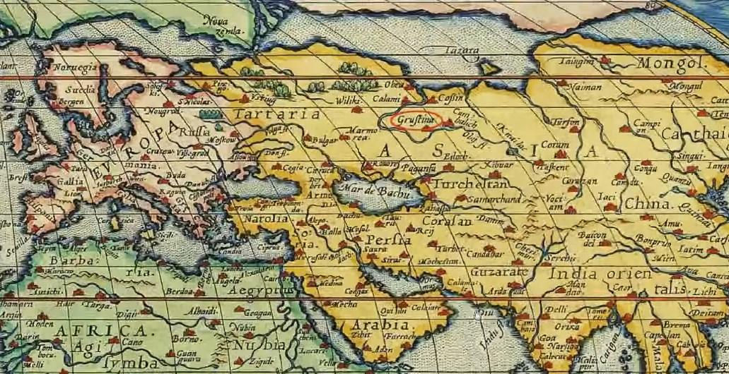 Карта Грустин