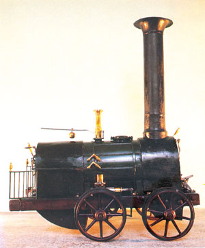 Модель первого паровоза Черепановых